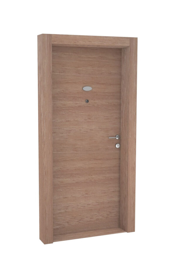 protivlomna lesena vrata temni hrast prečna