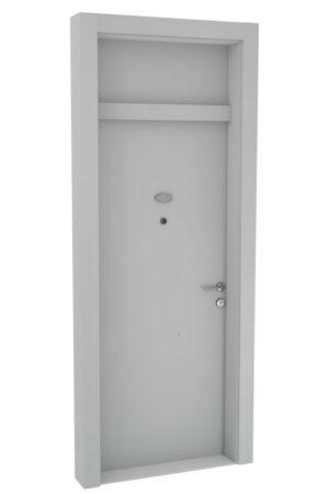 Protivlomna lesena vrata z nadsvetlobo bela