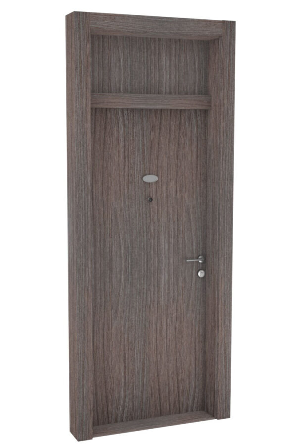 Protivlomna lesena vrata z nadsvetlobo brest