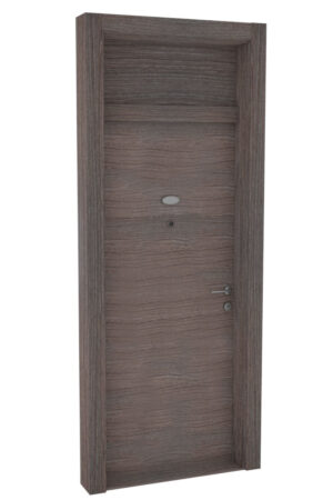 Protivlomna lesena vrata z nadsvetlobo brest prečna