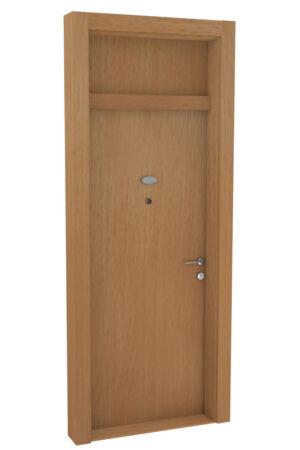 Protivlomna lesena vrata z nadsvetlobo bukev