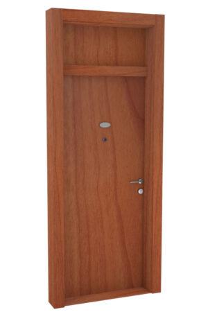 Protivlomna lesena vrata z nadsvetlobo svetla češnja